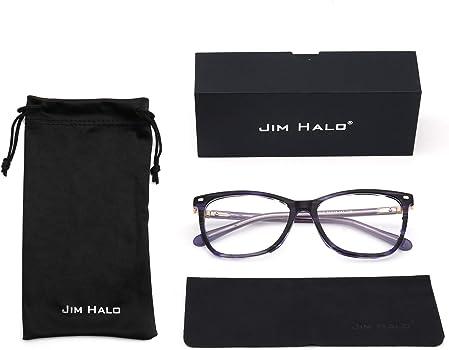 a07eccd04d JIM HALO Cuadrado Sin Receta Gafas Lente Claro Anteojos Hombre Mujer. JIM  HALO Cuadrado Sin Receta Gafas Lente Claro Anteojos Hombre Mujer Azul