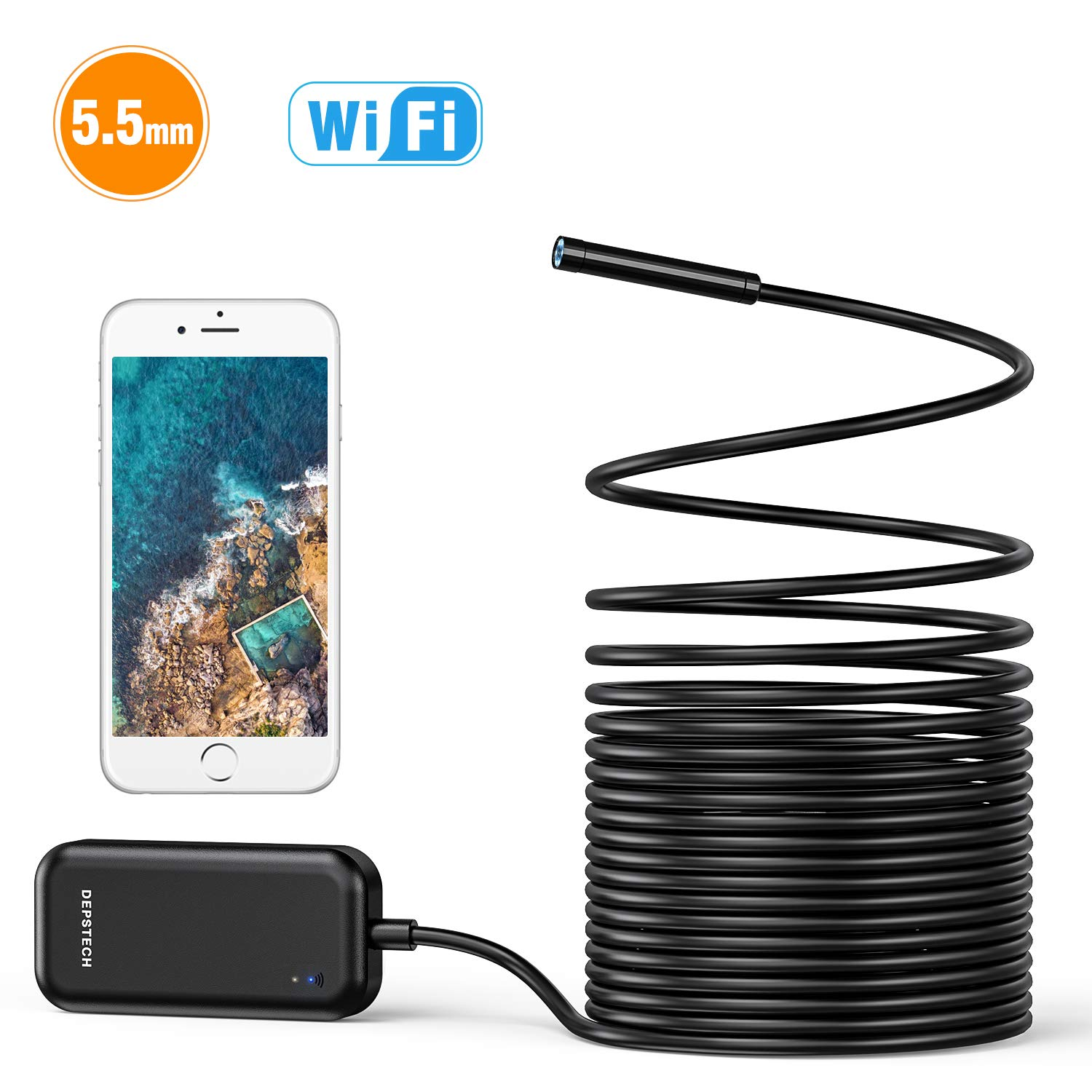HD 1200P 2MP WIFI USB Endoscope Camera Rigid Cable for Android for iPhone OV