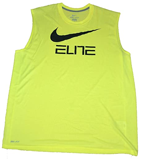 1338c6faf75fd Image Unavailable. Image not available for. Color  NIKE New Men s Qt  Sleeveless Elite Graph Shirts Bright ...