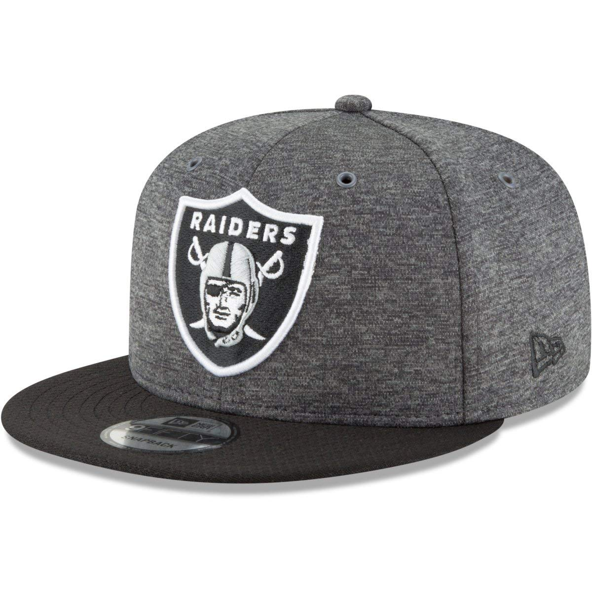 180a84ad08e New Era Oakland Raiders 9fifty Snapback NFL 2018 Sideline Home Graphite   Amazon.co.uk  Clothing