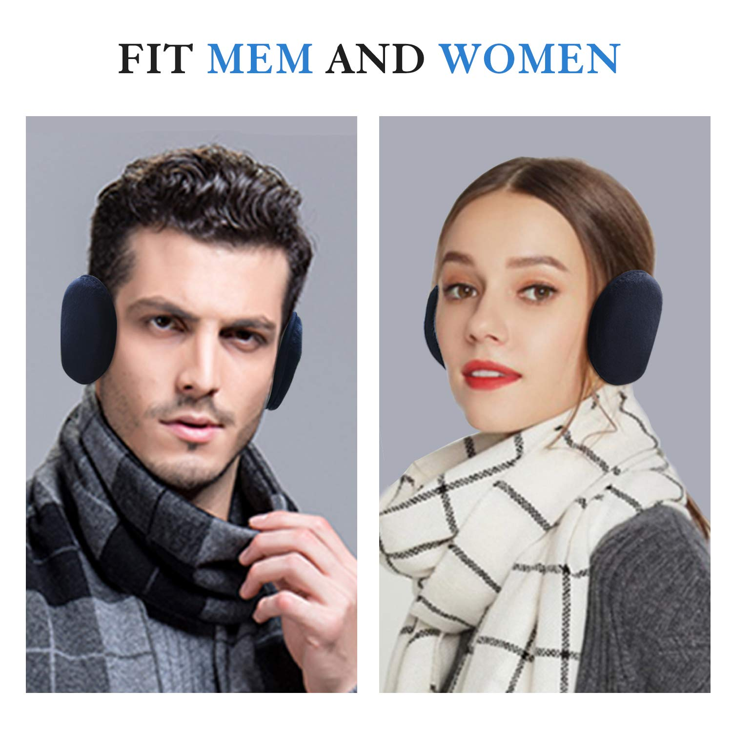 Christmas Gift Ideas for Men and Women Stay Warm and Comfortable in Winter Ear Warmers for Men and Women Fleece Ear Muffs