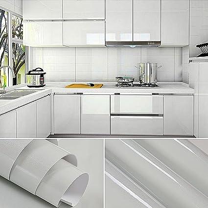 2er superior del gabinete de cocina de calidad engomada del PVC auto ...