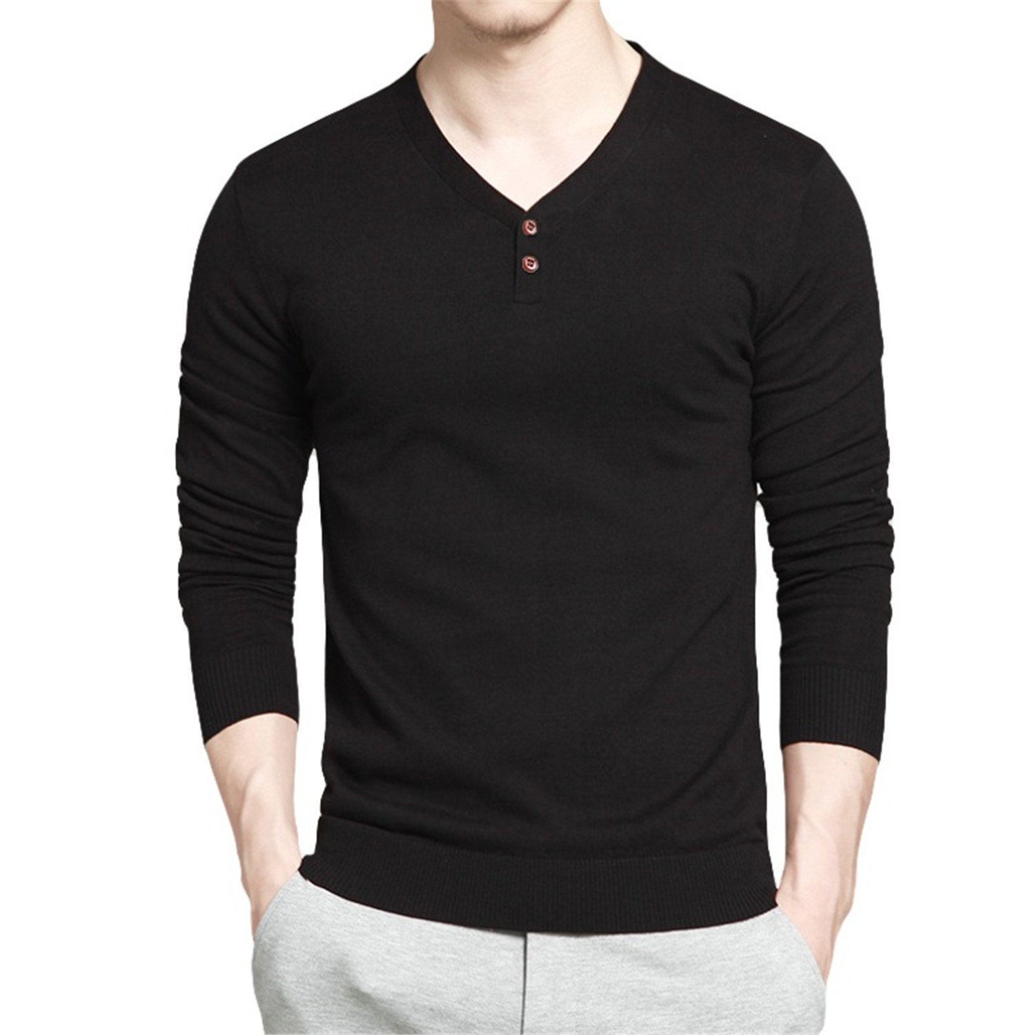 NeeKer Jacket Men Sweaters Combed Cotton V Neck Long Sleeve Knitted Polo Shirts Men Pullovers Autumn M-4XL New