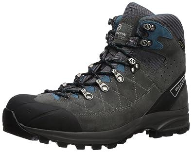 c6faa774035 SCARPA Men s Kailash Trek GTX Hiking Boot Shark Grey Lake Blue 41 Regular EU  (
