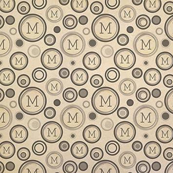 Llavero de papel de regalo con letra M para escribir, papel ...