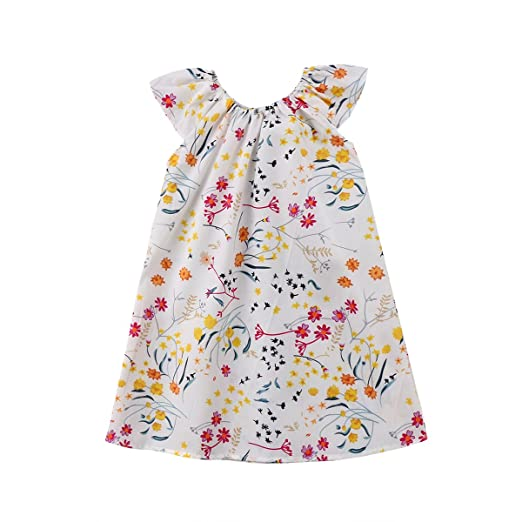 797217607b94 Family Matching Set Baby Kids Girls Floral Romper Jumpsuit Little Sister  Summer Dress Outfit (Little