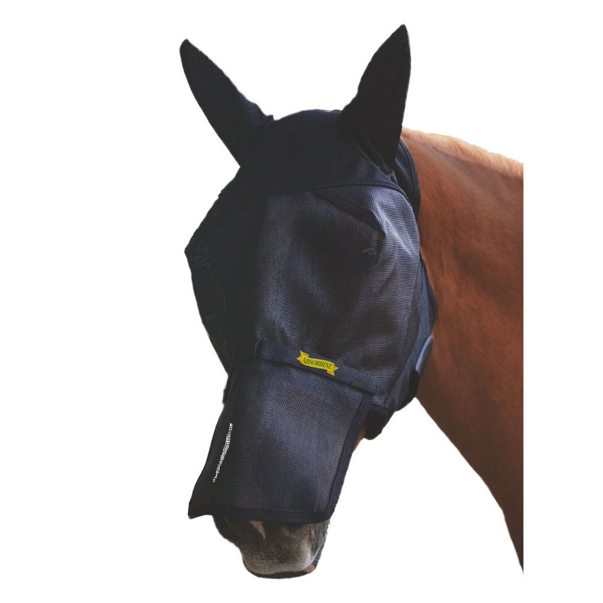 Absorbine UltraShield Fly Mask with Ears and Removable Nose (Full) (With Ears)