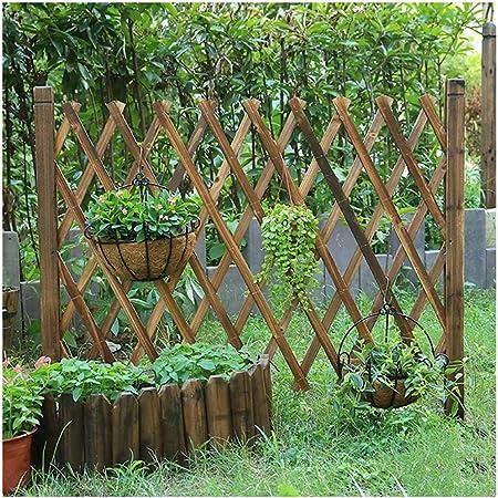 TH26 Valla de jardín de Madera con Enchufe Flexible para Valla de Exterior, 3 tamaños, Madera, marrón, 170X89CM: Amazon.es: Hogar
