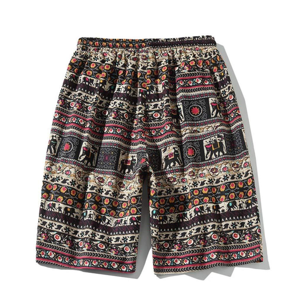 QBQCBB Fashion Mens Black Quick Dry Drawstring Waist Swim Trunks Patterned Board Shorts with Mesh Lining and Pockets