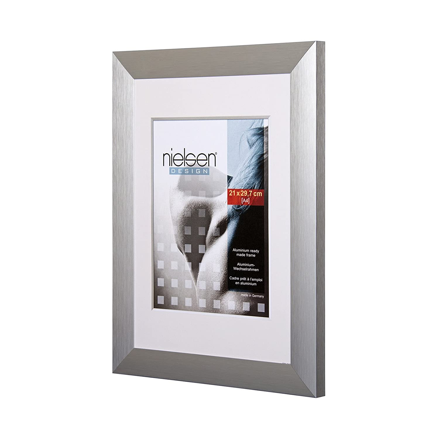 Amazon nielsen largo brushed silver a2 plastic glass 420 x amazon nielsen largo brushed silver a2 plastic glass 420 x 594 mmsilver a2 metal poster frames home kitchen jeuxipadfo Images