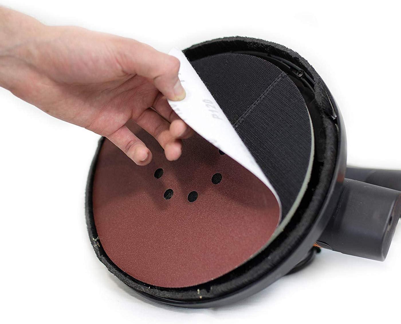 50 Pieces GOH DODD 9 Inch 6 Holes 40-400 Grits Grinding Hook /& Loop Abrasive Sander Sheets for Drywall Sander Sanding Disc