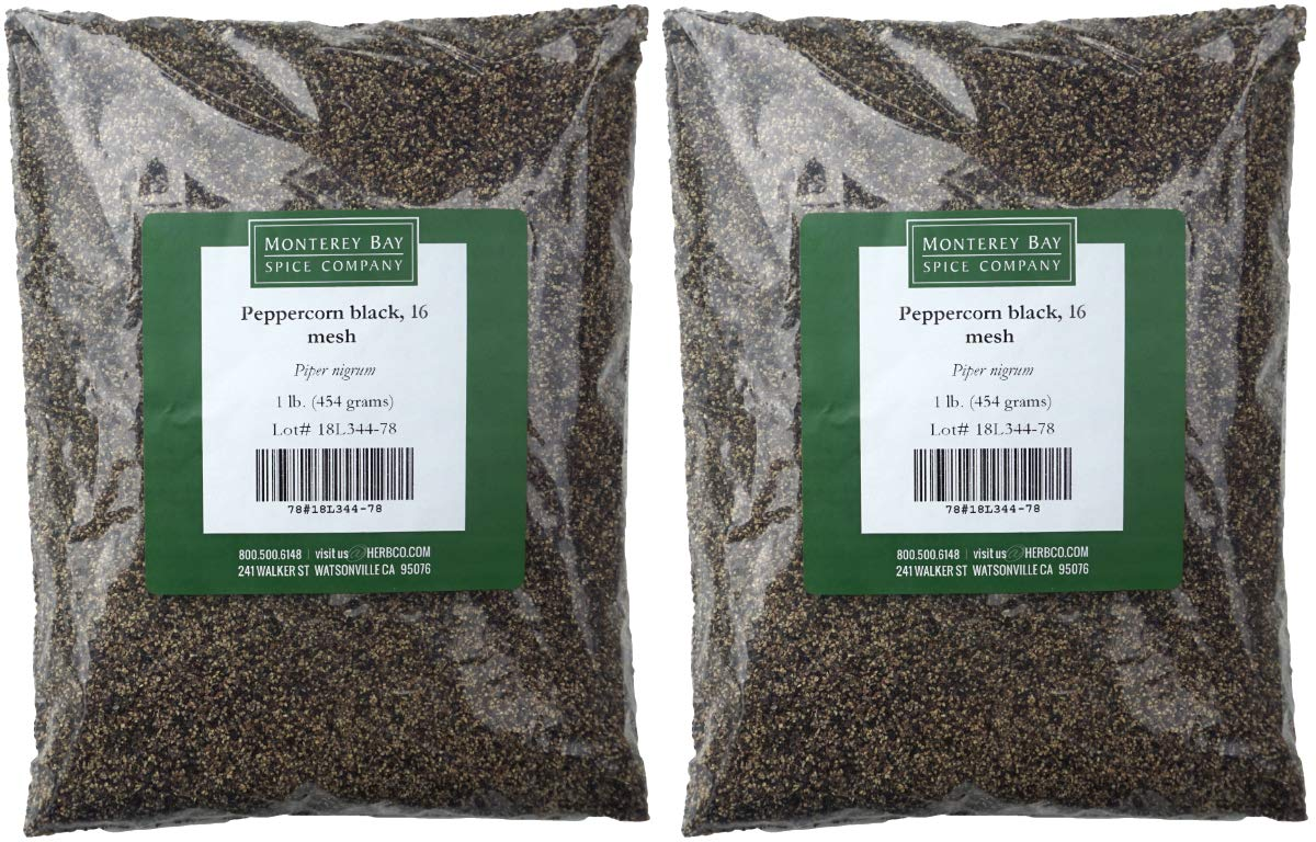 Monterey Bay Peppercorn Black - 16 Mesh - 1 Pound [2 Pack]