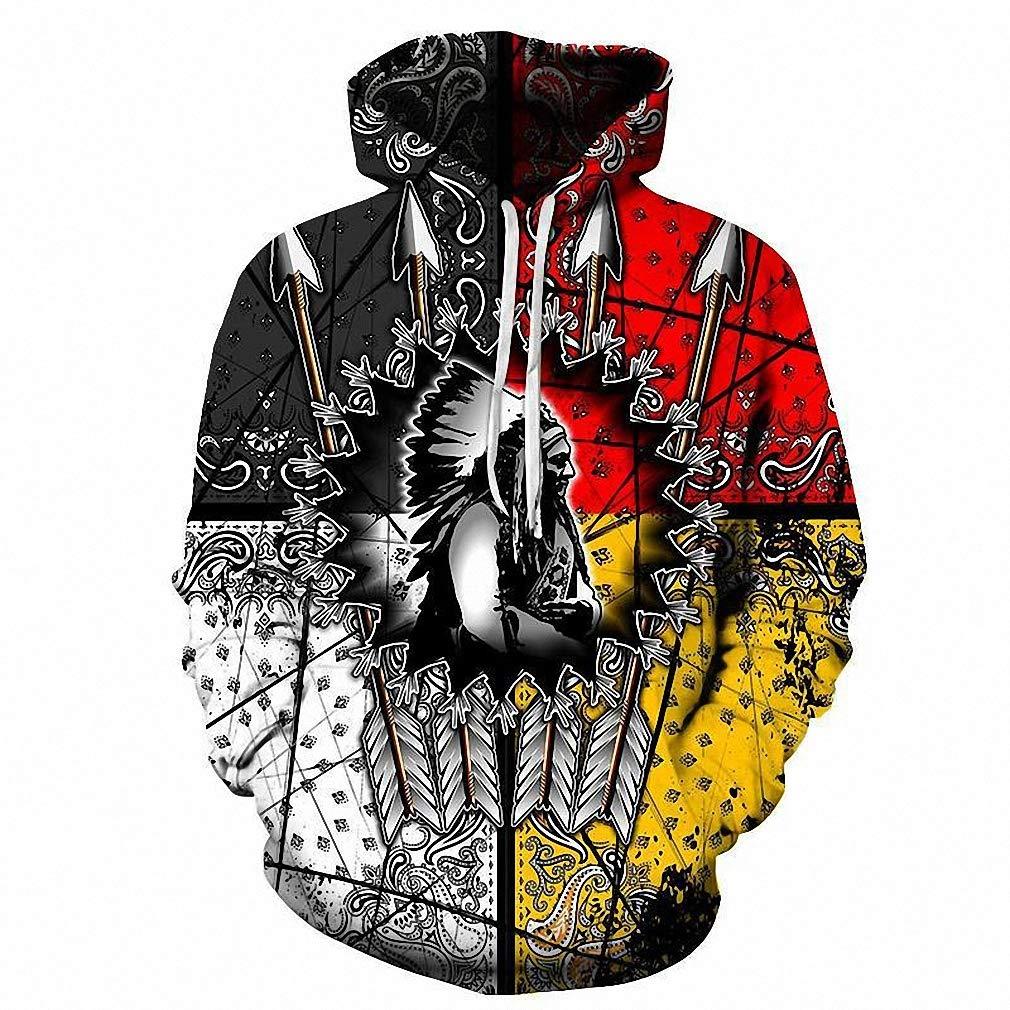 Amazon.com: Native American Chief 3D Hoodie Hoodies Men Hooded Sweatshirt Pullover Hoody: Clothing