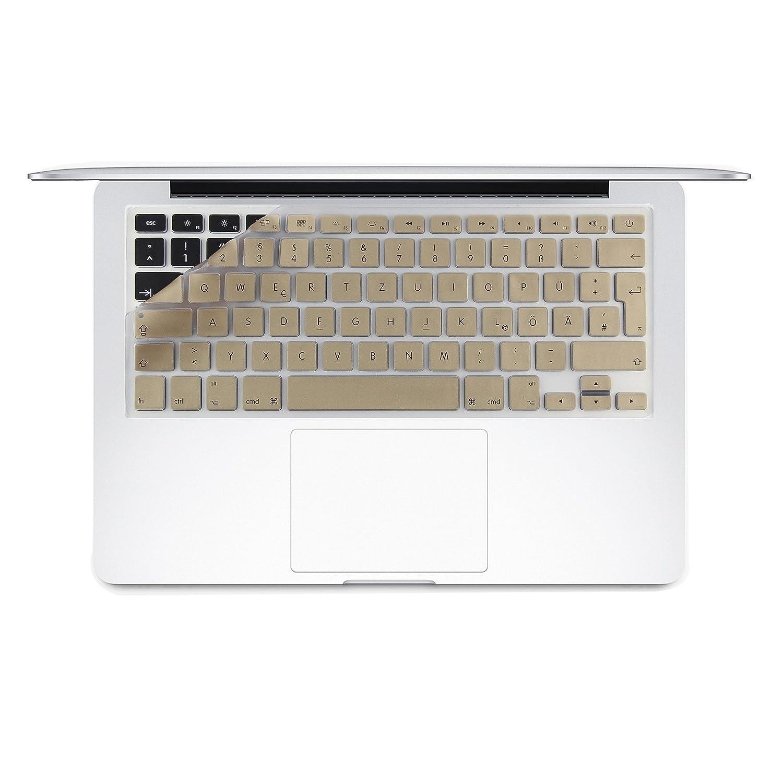 i-Buy QWERTZ Silikon Tastaturschutz f/ü r MacBook Air Pro 13 15/(No Touch Bar/)- Schwarz