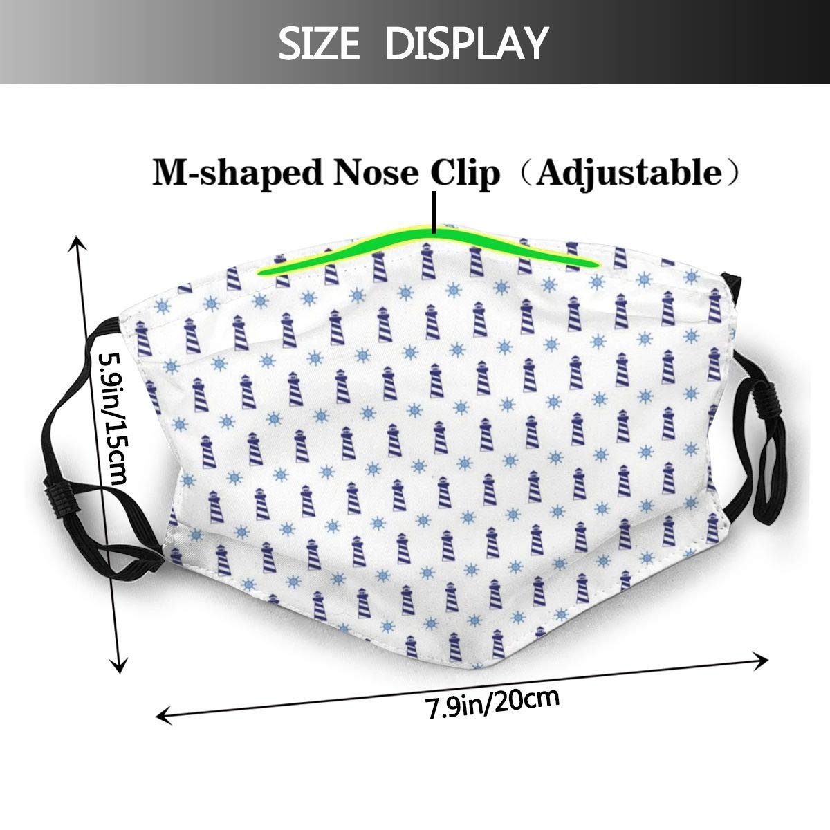 HARXISE Navy And Blush Soft Nebula Print Dust Washable Reusable Filter and Reusable Mouth Warm Windproof Cotton Face