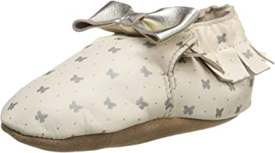 Robeez Girls Leather Moccasins, Gold
