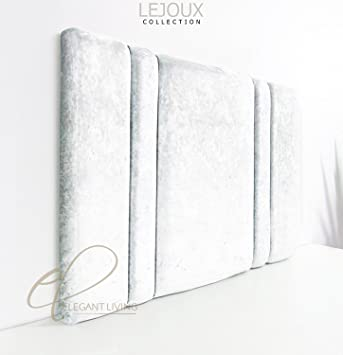 Lejouxtm Genf Luxus Kopfteil Bett In Crushed Samt Mit Double King