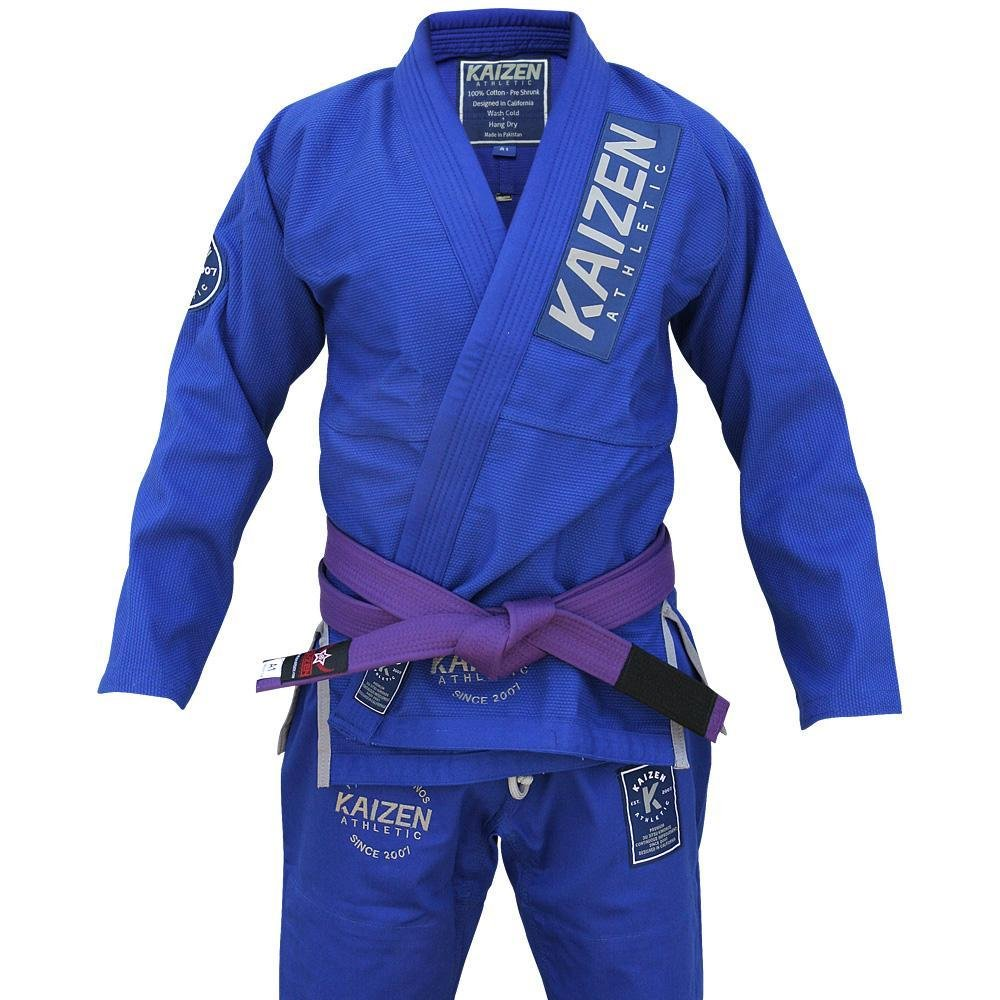 Brazilian Jiu Jitsu Pant for Mens BLUE//RED Rip Stop 100/% Cotton Preshrunk  New