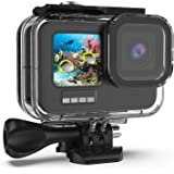 Kupton Waterproof Housing Case Compatible with GoPro HERO9 Black, 60M/196FT Underwater Protective Diving Case Shell with Brac