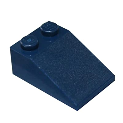LEGO Parts and Pieces: Dark Blue (Earth Blue) 2x3 33 Slope x20: Toys & Games