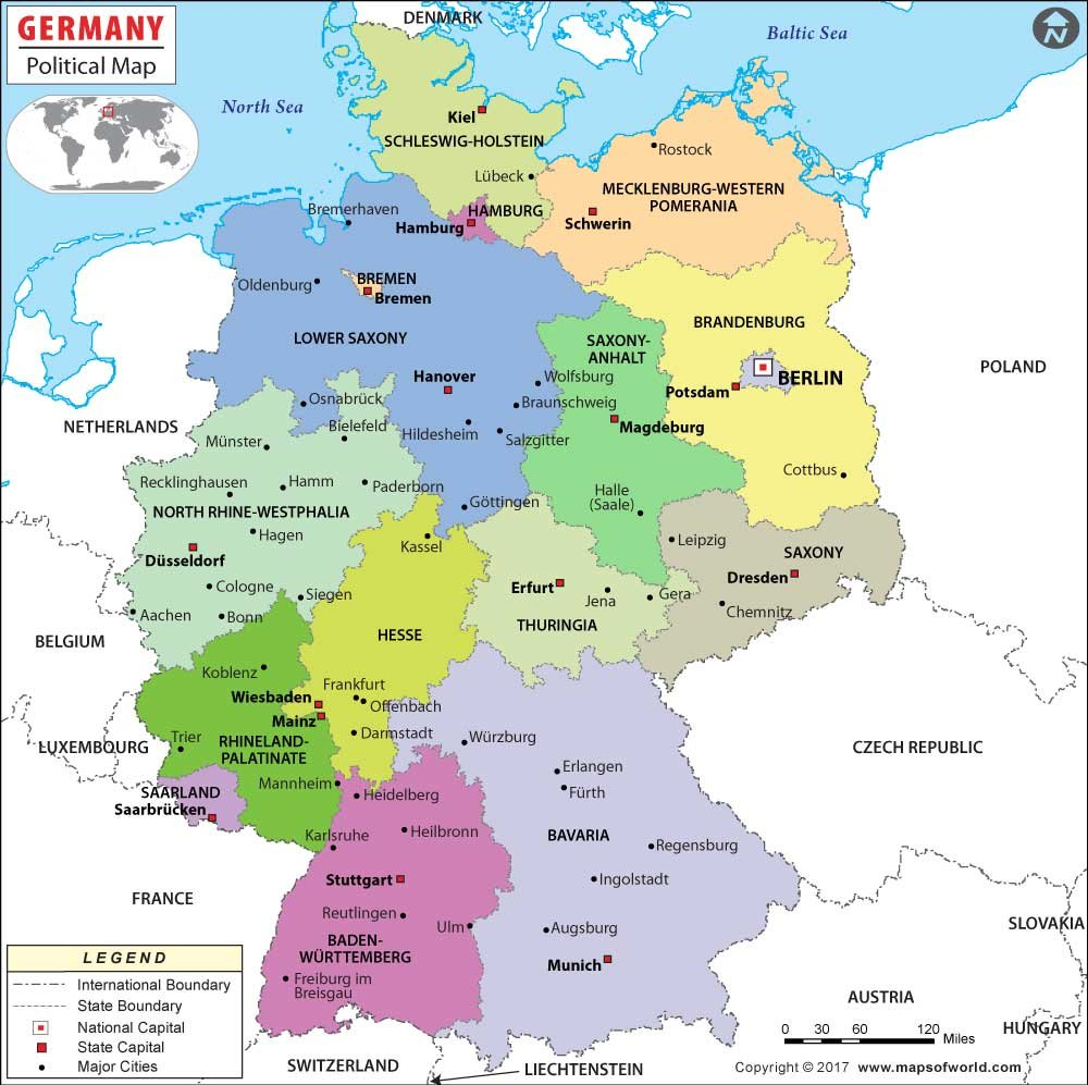 Map Of Germany Gottingen.Amazon Com Germany Political Map 36 W X 35 8 H Office Products