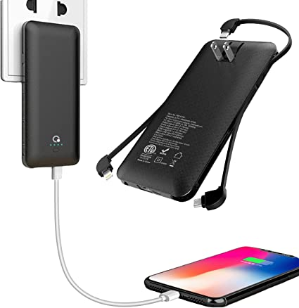 Amazon.com: Cargador portátil de 10000 mAh, banco de energía ...