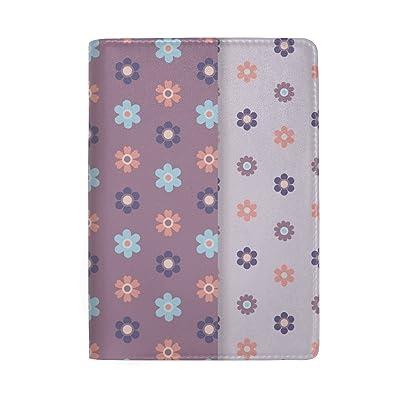 Heart Flower Genuine Leather Passport Holder Wallet Case Cover for Men Women