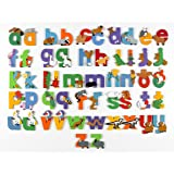 WOODEN Lower Case JUNGLE ANIMAL ALPHABET LETTERS PERSONALISED BEDROOM WALL DOOR (i)