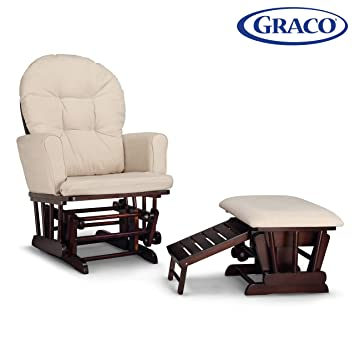 Outstanding Graco Parker Semi Upholstered Glider And Nursing Ottoman Espresso Beige Cleanable Upholstered Comfort Rocking Nursery Chair With Ottoman Gmtry Best Dining Table And Chair Ideas Images Gmtryco