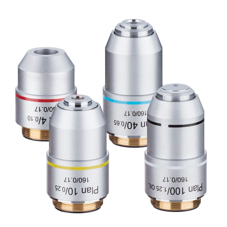 AmScope PAX Plan Objective Lens Set