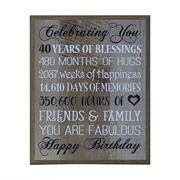 40th Birthday Gifts For Women Men Wife Happy Gift Ideas Husband Best