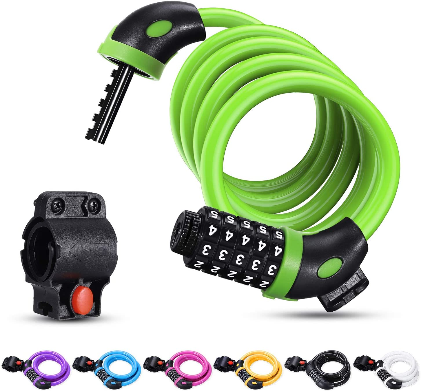 Cycling Bike 4 Digit Combination Security Password Bicycle Cable Chain Safe Lock
