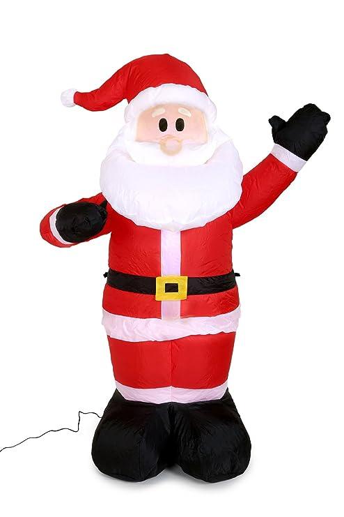 Papá Noel hinchable 125 cm de alto: Amazon.es: Hogar