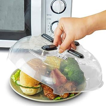 Cubierta para placa de microondas (2 unidades), protector de salpicaduras de alimentos,