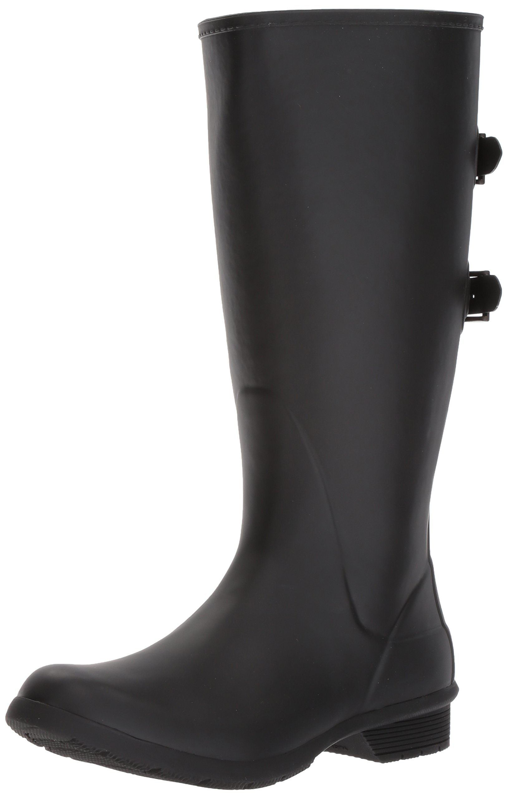 Chooka Women's Wide Calf Memory Foam Rain Boot, Black, 8 M US
