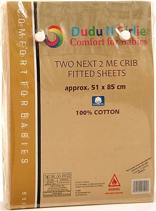 Travel Cot 65x95cm, Terry Coton Imperméable matelas type drap housse