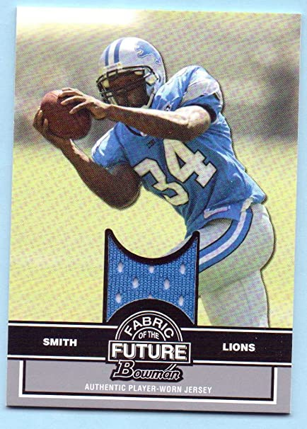 76ea6799e Amazon.com  Kevin Smith 2008 Bowman Fabric of the Future Rookie Worn ...