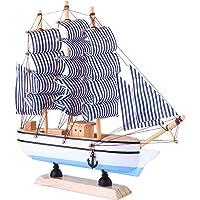 BESPORTBLE Sailing Ship Model Decor Wooden Miniature Sailing Boat Sailboat Model Vintage Nautical Sail Ship Marine…