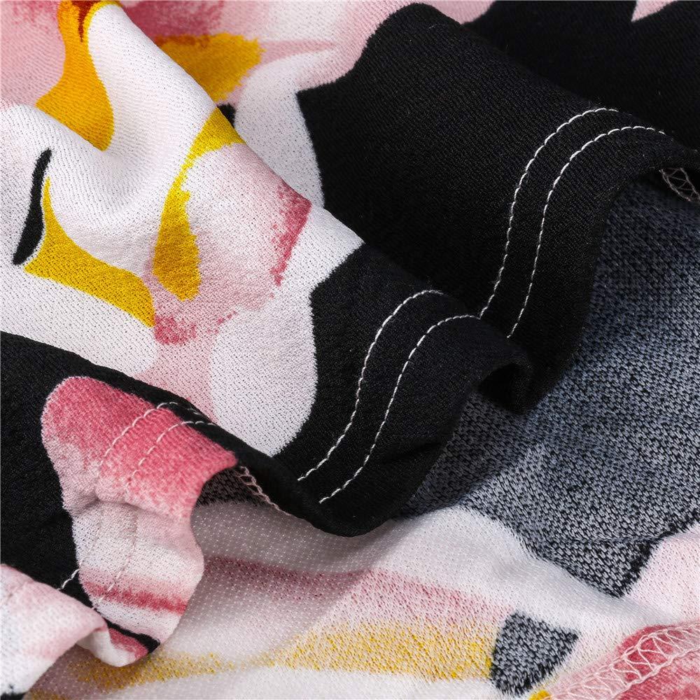 Vestido para Mujer,BBestseller Mujer 2019 Primavera Verano Camiseta Cintura Delgada Impresión de Patchwork Vestir Fiesta Cóctel Playa Falda de la Rodilla: ...