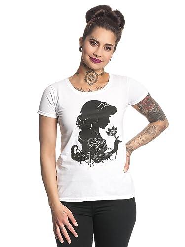 Aladdin Camiseta de Las Señoras Jazmín Amor es Verdadero Blanco de Algodón Mágico de Disney