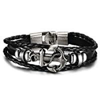 University Trendz Latest Collection New Leather Stylish Charm Friendship Bracelet
