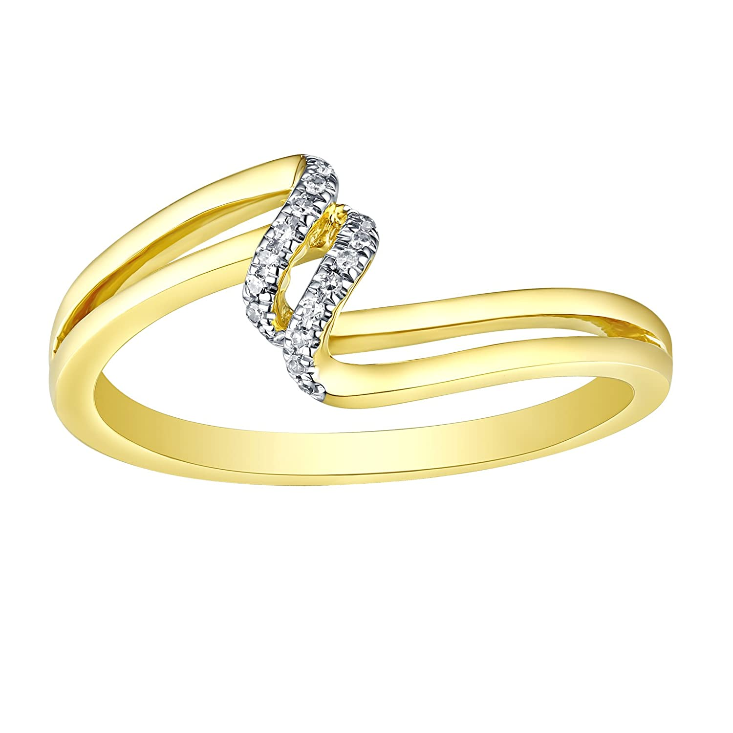 Prism Jewel G-H//I1 Round Natural Diamond Stackable Designer Ring,