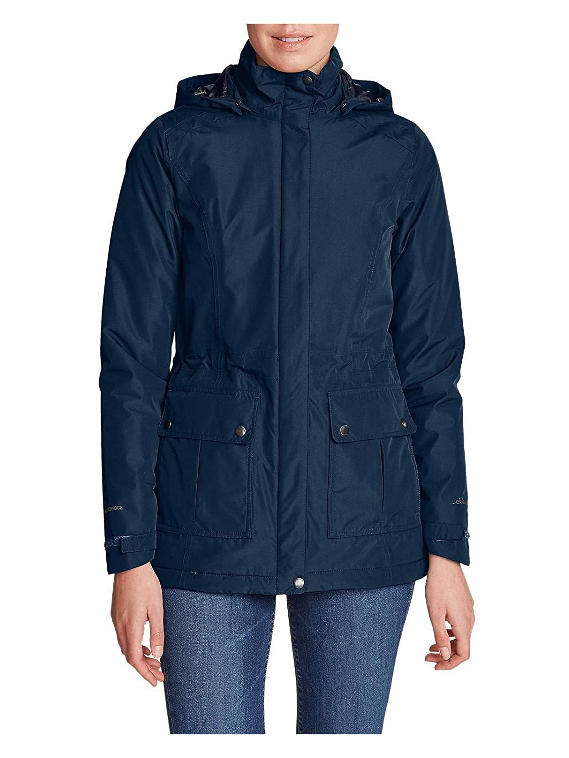 6384e9d2f61d7 Eddie Bauer Women s Rainfoil Fleece-Lined Parka at Amazon Women s Coats Shop