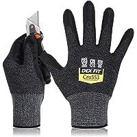 DEX FIT Level 5 Cut Resistant Gloves Cru553, 3D Comfort Stretch Fit, Power Grip Foam Nitrile, Smart Touch, Durable Thin…