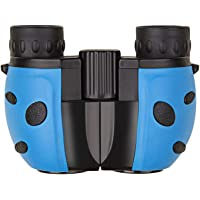 Children Binoculars Kids Lightweight Portable Rubber Telescope Bird Watching Wildlife Hiking Travelling gift Sport Game Concerts (Blue)
