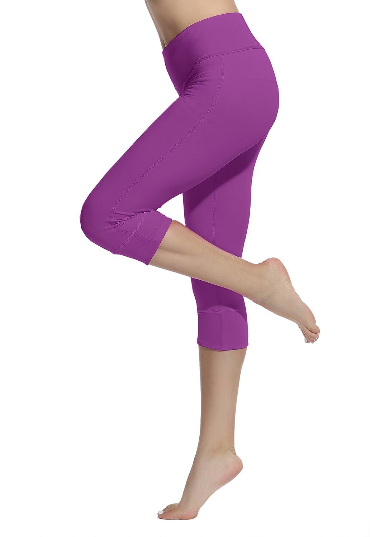 Lotsyle Womens Running Tight Yoga Leggings Stretch Fitness Capri Pants