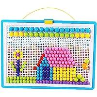 Jigsaw Toy Pegboard DIY Mushroom Nails Mosaic Pegboard Educational Toys Mix Color för barn Toy Supplies