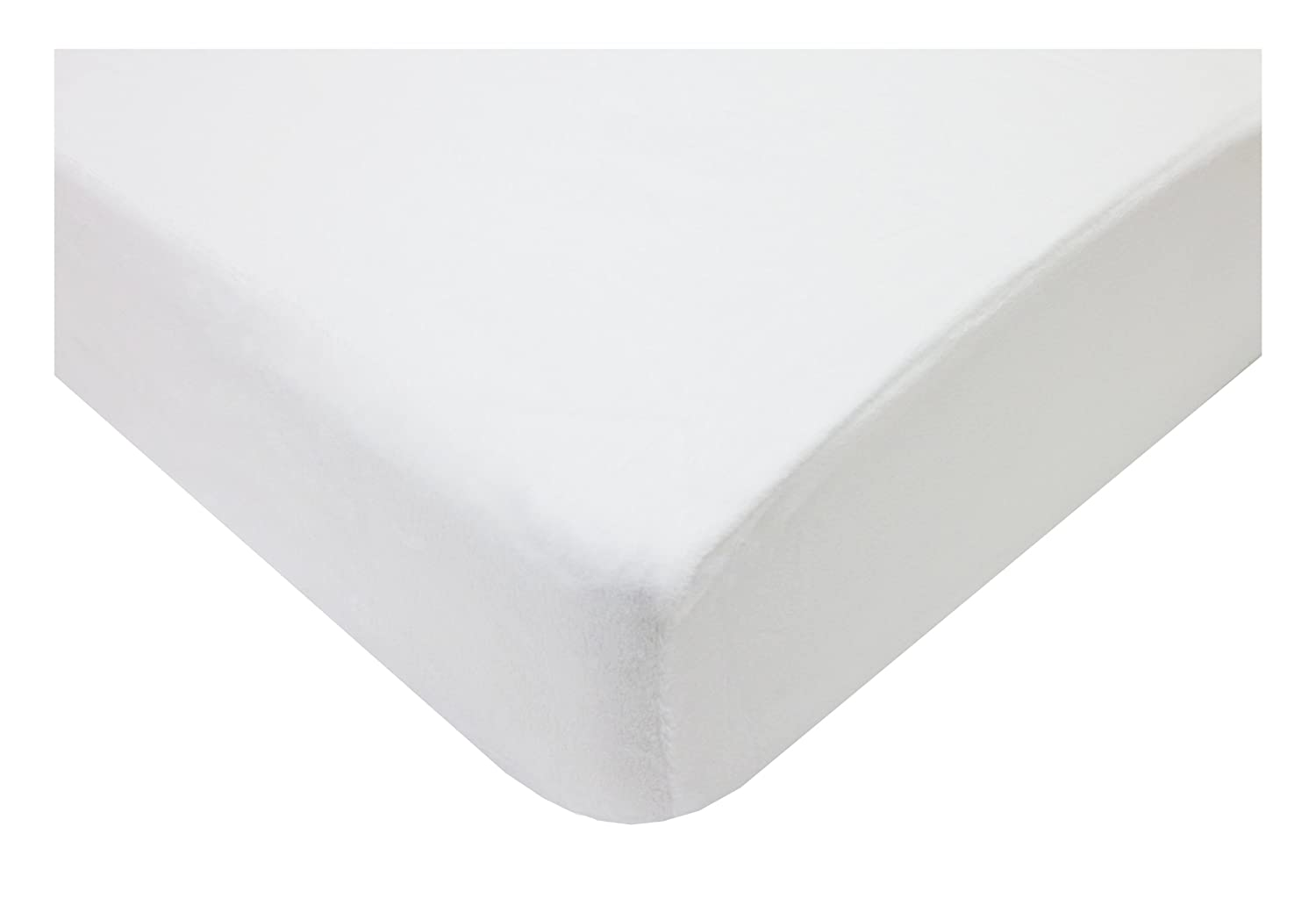 American Baby Company 4550-WT Heavenly Soft Chenille Crib Sheet (White)
