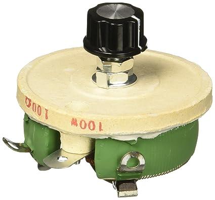 100w 100 ohm ceramic wirewound potentiometer rotary resistor rh amazon com