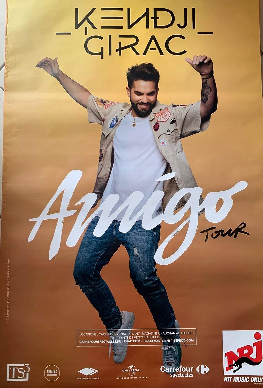 AFFICHE / Kendji GIRAC - Amigo Tour 2019-80x120cm Poster: Amazon.fr: Cuisine & Maison